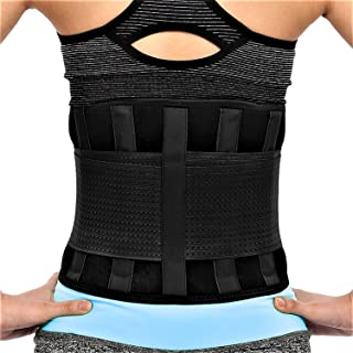 RiptGear Back Brace for Men and Women - Back Pain Relief Support for Lower Back Pain and Hip Pain - Lumbar Severe Back Pain Relief for Herniated Disc and Sciatica (Black, X-Large)