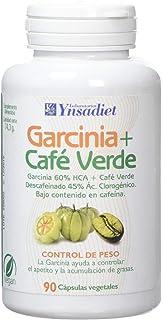 Ynsadiet Garcinia Cambogia Con Extracto de Café Verde Sin Cafeina, Complemento Para la Dieta, Complemento alimenticio Natural, Control de Peso, Perdida de Peso, 90 Cápsulas