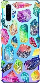 Oihxse Funda Dibujos Diamantes Brillantes Compatible Huawei Honor 10 Transparente Silicona TPU Bumper Case Ultra Delgado C...