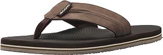 Scott Hawaii Men's Kaulana Vegan Leather Sandals | Reef Walking Flip Flops for Men | Camouflage Detailed Neoprene Comfort ...