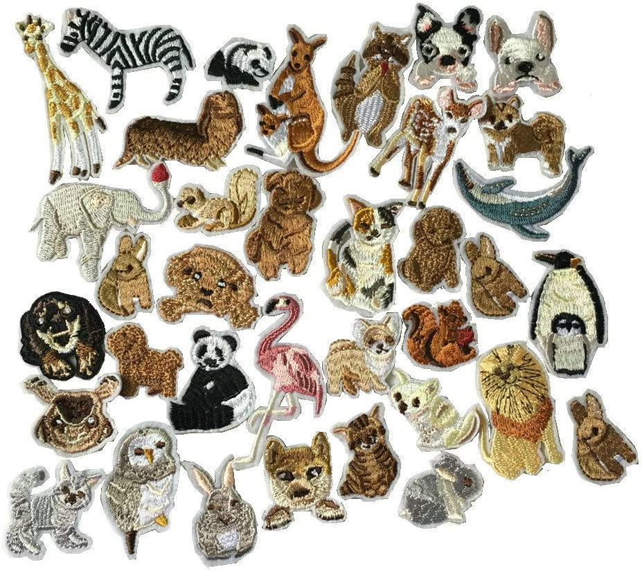 Animal Special price for a limited time Iron On Max 52% OFF Patches Clothing Decoration Embroi Small Backpack
