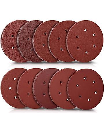 carta abrasiva foglio 100pcs 8/fori 125/mm misti dischi abrasivi per levigatrice orbitale Bosch 40/60/80/120/240/Grit Pads