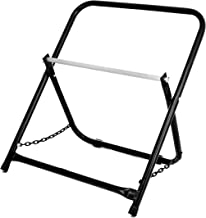 AdirPro Rugged Single Axle Cable Caddy - Industrial Grade Steel Wire Dispenser - Easy Use Cable Holder & Distribution for Workplace Efficiency (Black)