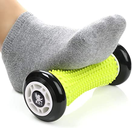 H&S Foot Massage Roller Muscle Roller Stick Wrists and Forearms Exercise Roller Massager for Plantar Fasciitis - Black