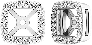 Dazzlingrock Collection 0.25 Carat (ctw) 14K Gold Round White Diamond Removable Jackets For Stud Earrings 1/4 CT