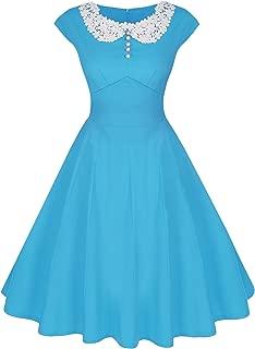 Women's Classy Vintage Audrey Hepburn Style 1940's Rockabilly Evening Dress