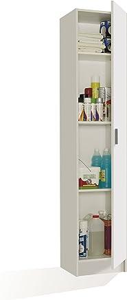 FORES - 007141O - Mueble armario multiusos, 1 puerta, color Blanco, medidas: 182 x 37 x 37 cm de profundidad
