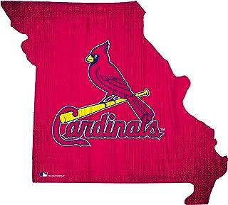 "Fan Creations St. Louis Cardinals 12"" Team Color Logo State"