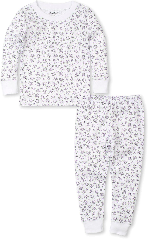 Kissy Kissy Girls Toddler Petite Paradise Lilac Print Long Pajamas Set