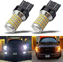iBrightstar Newest Super Bright 7443 7444NA Switchback LED Bulbs with Projector Replacement for Daytime Running Lights/DRL and Turn Signal Lights,White/Amber