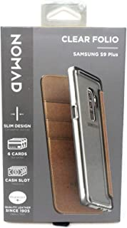 Nomad Folio Case with Card Pockets for Samsung Galaxy S9+ Clear/Brown