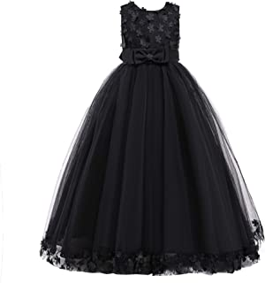 Weileenice 3-16Y Big Girls Lace Bridesmaid Dress Flower Kid Wedding Ball Gown