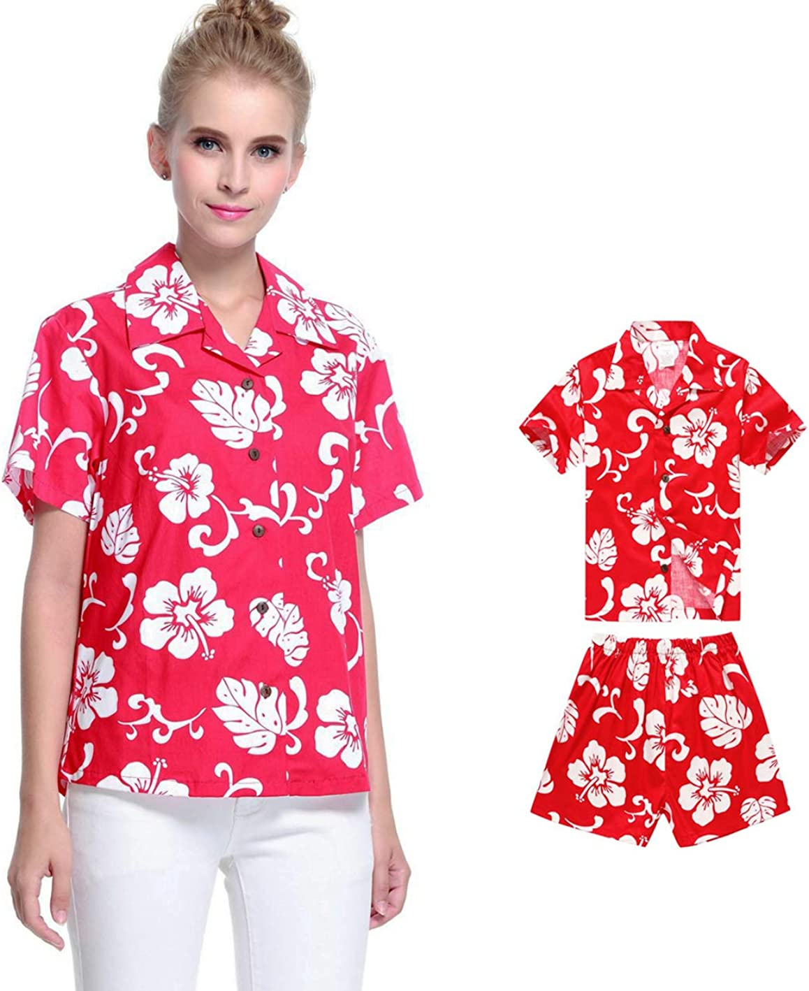 Matching Mother Son All stores are sold Hawaiian Ranking TOP19 Luau Boy Women R Shorts Shirt