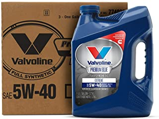 Valvoline Premium Blue Extreme SAE 5W-40 Synthetic Engine Oil 1 GA, Case of 3