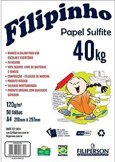 Papel Sulfite A4 120g, Filiperson, Filipinho, 1779, 50 Folhas, Branco