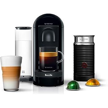 Nespresso VertuoPlus Coffee and Espresso Machine by Breville with Aeroccino, Ink Black
