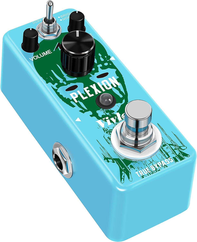 Vivlex LEF-324 Plexi Plexion Pedal de efectos de guitarra Mini Pedal para guitarra eléctrica True Bypass Carcasa de aleación de zinc