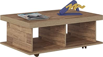 Artely Dunas Coffee Table, Rustic Brown, 35 cm x 90 cm x 59 cm