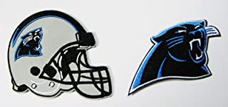 LOT of 2 North Carolina Panthers Embroidered Helmet & Logo Patches (3 1/2