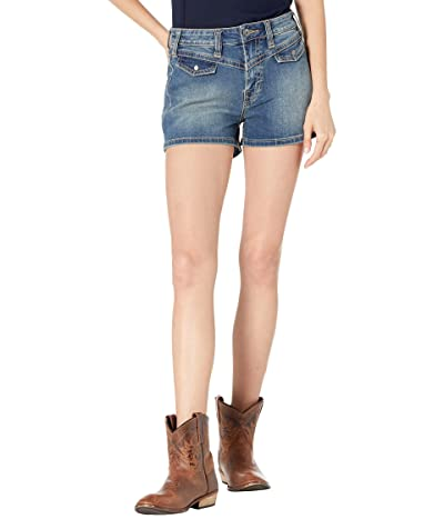 Rock and Roll Cowgirl High-Rise Denim Shorts in Medium Vintage 68H9783