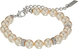 Nina Betha Pearl Bracelet w/ Crystal Spacers