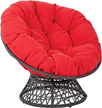 Furniture Overstuffed Papasan Chair Cushion,Tufted Swing Rattan Chair Cushion,Round Cushion Thick Comfortable Oversized Pa...