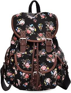 Lightweight Backpack for Teen Young Girls Cute Backpack Print Rucksack Black 163