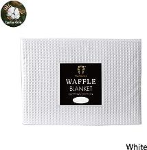 Egyptian Cotton Waffle Blanket White Single/Double