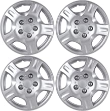 OxGord 15 inch Hubcaps Best for - Nissan Maxima - (Set of 4) Wheel Covers 15in Hub Caps Silver Rim Cover - Car Accessories for 15 inch Wheels - Snap On Hubcap, Auto Tire Replacement Exterior Cap