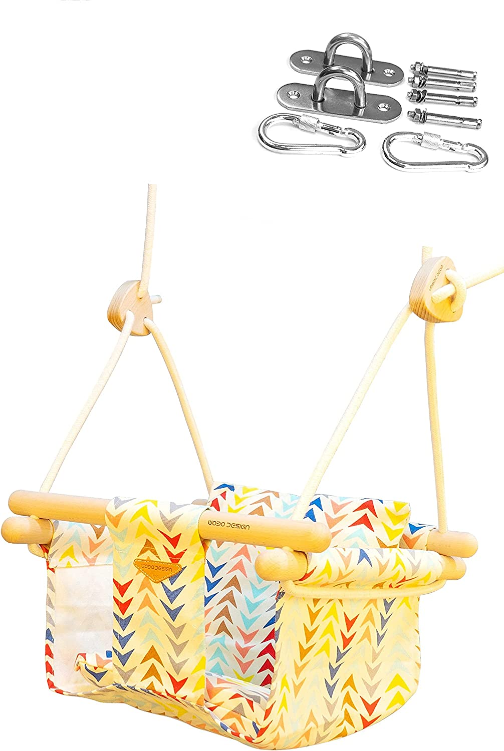 Baby Canvas Swing with Ceiling Deluxe Nashville-Davidson Mall Hammock Toddle Outdoor Mount
