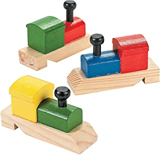 Fun Express - Wooden Train-Shaped Whistles - Toys - Noisemakers - Kazoos & Whistles - 12 Pieces