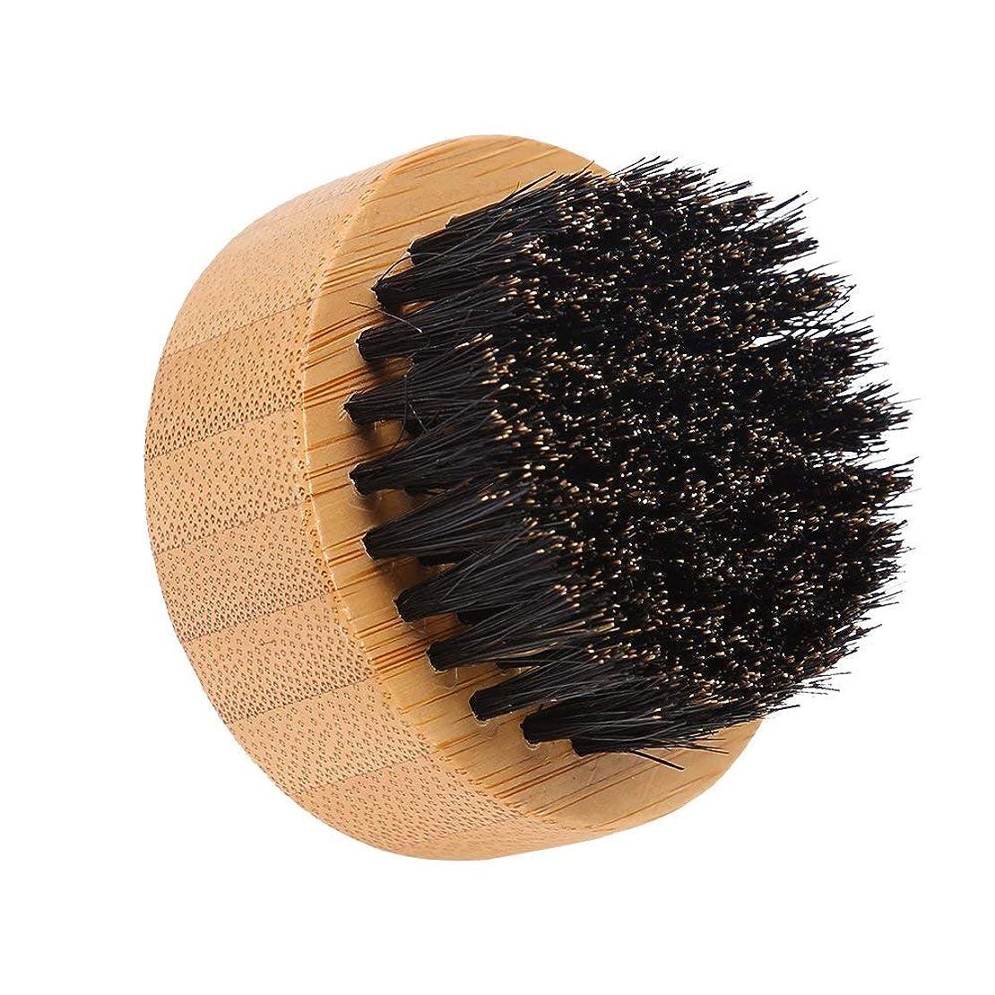 リサイクルするラッシュ沼地Yuyte男性口ひげスタイリング思いやりのあるイノシシ髪髭ブラシラウンドフェイシャルヘアコーム