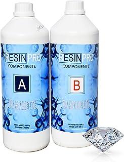 comprar comparacion Resina epoxi, Ultra transparente 2-K kg1,6con B-Super transparente efecto agua para creación de joyas resina transparent-...