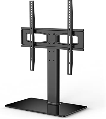 FITUEYES Universal TV Stand Tabletop TV Base with Mount for 27-55 inch Flat Screen Tvs Vizio/Sumsung/Sony Tvs/Xbox One/tv Components Max VESA 400x400