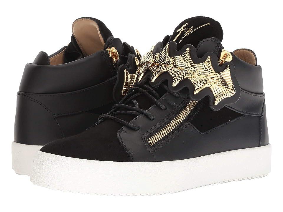 Giuseppe Zanotti May London Gold Bar Sneaker (Black) Men