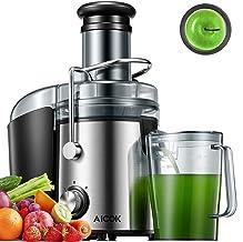Aicok Centrifuga Frutta e Verdura, 800W Potente Estrattore di Succo Freddo con 75MM Bocca Larga, Piedi Anti-scivolosi e Fa...