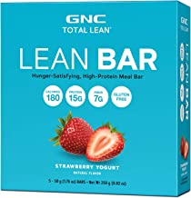 GNC Total Lean Lean Bar - Strawberry Yogurt, 5 Bars, Supports a Healthy Metabolism