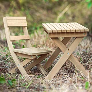 The Queen's Treasures Gombe Rainforest Wooden 18 Inch Doll Folding Camp Research Table and Chair Set. Outdoor Adventure Furniture and Accessories Compatible with American Girl Dolls
