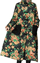 YESNO A67 Women's Long Floral Quilted Jacket Outwear Coat Chinese Traditional Qipao