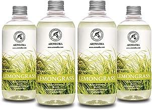 Lemongrass Diffuser Refill 68 oz (4x17oz) - Fresh & Long Lasting Fragrance - Refill Bottle with Natural Essential Lemongra...