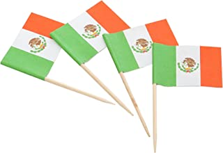 KingSeal Mexican Flag Toothpicks, 2.5 Inch - 10 Pack/144 per Pack, Mexico Flag Picks