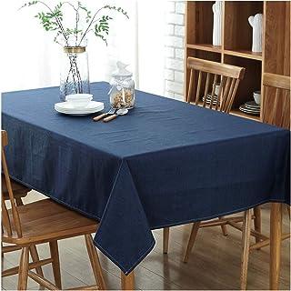 ZJM Nappe de Table,Nappe Anti-Taches,Nappe de Table Rectangulaire en Tissu Coton et Lin,Nappe de Table en Linge de Table L...