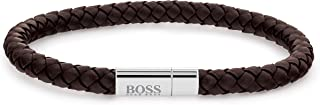 Hugo Boss Black Men'S Grey Dial Brown Leather bracelet - 1570083
