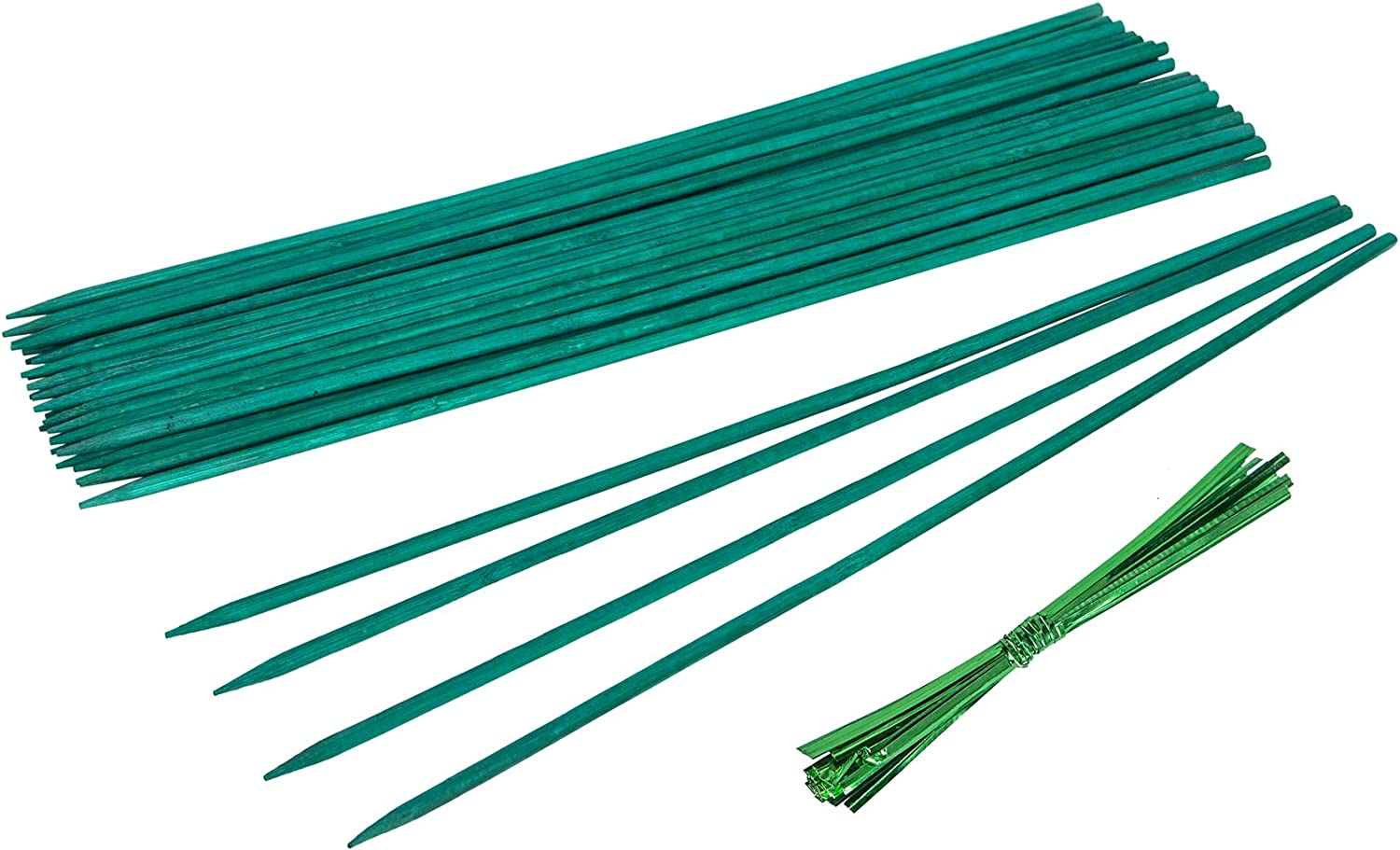 YHmall Regular dealer 25 Pcs Manufacturer regenerated product Green Wood Plant Support Stakes Floral Stak
