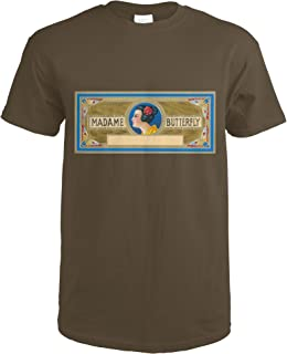 Madame Butterfly Brand Cigar Inner Box Label 27627 (Dark Chocolate T-Shirt XX-Large)