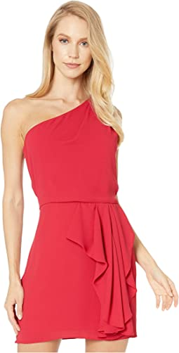 One Shoulder Drape Front Dress
