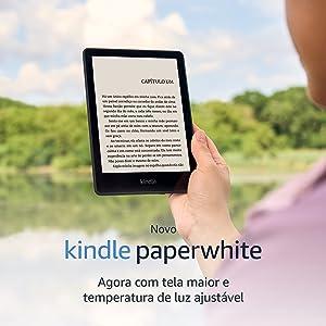"""Novo Kindle Paperwhite: agora com tela de 6,8"""" e temperatura de luz ajustável"""