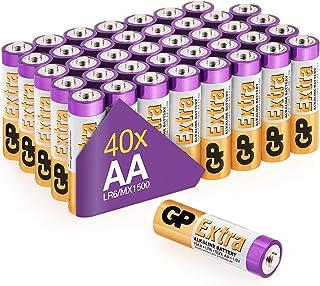 GP Pilas AA - LR6 - Paquete de 40 Extra   Baterías Alcalinas de Larga Duración 1.5v