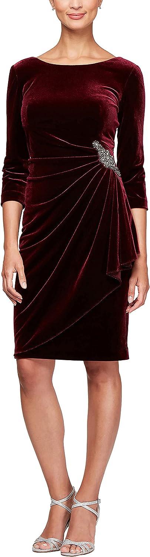 10+ Websites with 1940s Dresses for Sale Alex Evenings Womens Short Three Quarter Sleeve Velvet Dress (Petite Regular)  AT vintagedancer.com