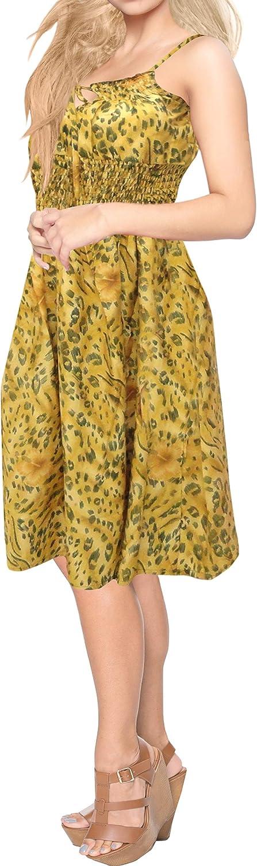 LA LEELA Women's Plus Size Tube Swimsuit Cover up Caftan Beach Dress Printed A
